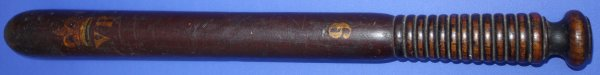 Victorian British Painted Police Officer's Truncheon