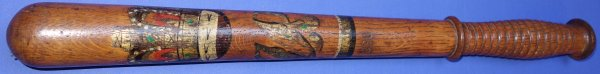 Long Victorian Police Officer's Painted Truncheon