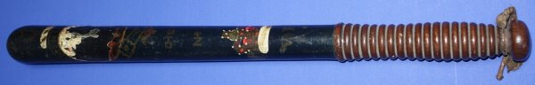 Victorian Edinburgh Constabulary Officer's Polychrome Truncheon