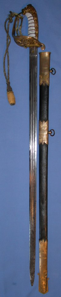 Victorian British Royal Naval Officer's Sword with Claymore Blade