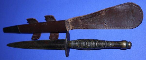 Rare Beaded & Ribbed F-S Fighting Knife Broadarrow 2
