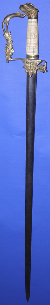 Early 19C US American Ketland Eagle Infantry Officer's Sword