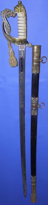 WW1 / George V British Royal Naval Reserve Officer's Sword