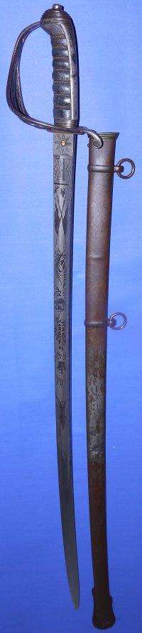 Victorian Lancashire XIX Artillery Named Officer's Sword, Sold