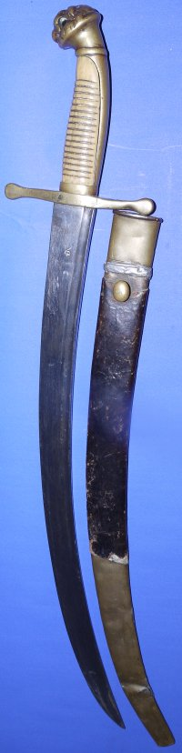 Early Victorian (1838-1839) British Royal Navy Officer's Fighting Dirk