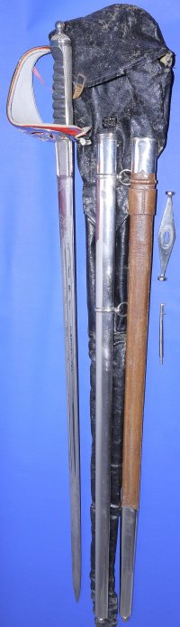 Edwardian 1857 Pattern Scottish Infantry Officer's Broadsword