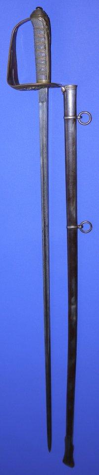 1854P British Infantry Officers Wilkinson Sword