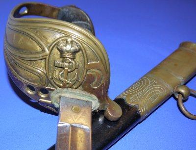 Late Victorian British Royal Navy Junior Officer's Sword