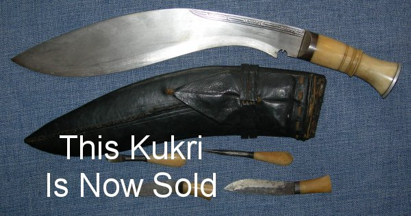 Bone handled kukri