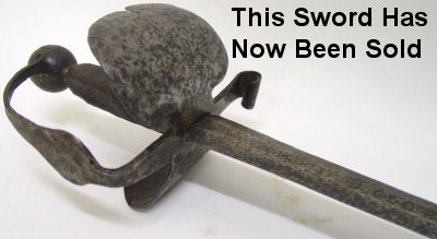 English Civil War Cavalry Sword (Round eads)