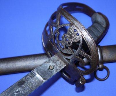 Victorian British Westmoreland Rifle Officer's Sword