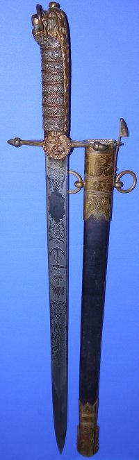 Boer War Era / Late Victorian British Royal Navy Midshipman's Dirk