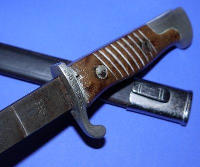 German Seitengewhr M1898 Engraved Bayonet, 160th Infantry