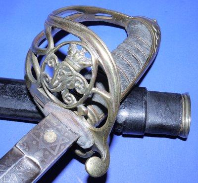 Victorian 1845 Pattern Volunteer Artillery Officer's Sword