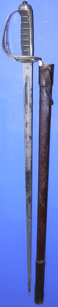 Mid 19C King Peter V Portuguese Army Officer's Sword