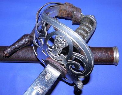 George V Buckinghamshire Battalion Rifle Officer's Sword