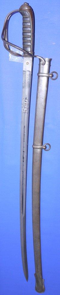 Mid Victorian Rifle Volunteers Officer's Sword, De Burgh / Burke, Sold