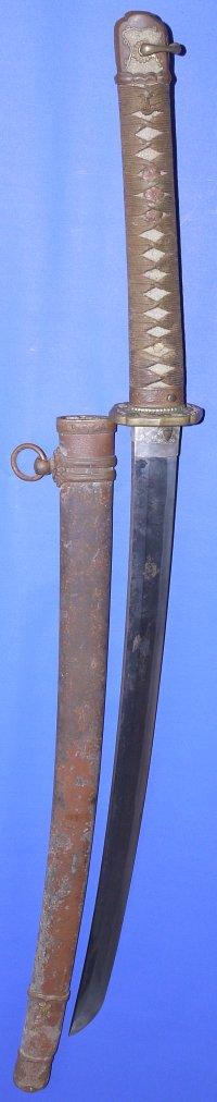 WW2 Japanese Army Officer's Shin Gunto, Yasutsugu Blade, Sold
