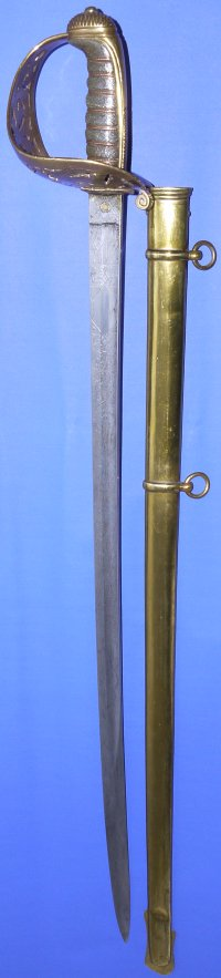 1857 Pattern Victorian British Royal Engineers Senior Officer's Sword