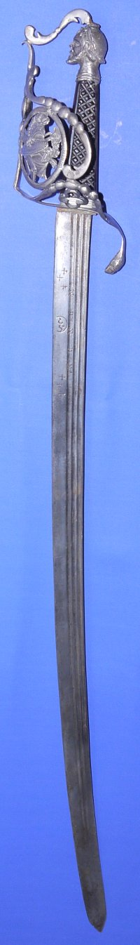 Circa 1795 to 1798 French Naval Officer's Silver Hilted Sword