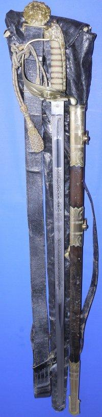 WW2 British Royal Navy Named Officer's Sword, Sold