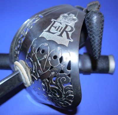 British ERII Infantry Rifle Officer's Wilkinson Sword