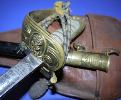 WW1 British Royal Navy Officer's Solid Hilt Wilkinson Sword