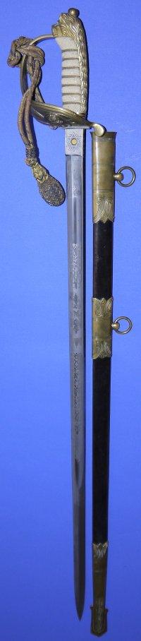 WW1 era British Royal Naval Officer's Sword, Sold