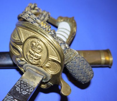 ERII British Royal Navy Officer's Sword by Gieves