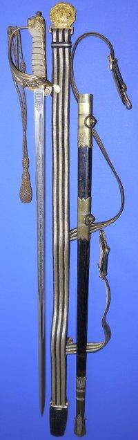 WW2 era British Royal Naval Officers Sword, Sold