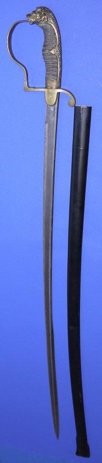WW1 era Prussian / German Army Officer's Lions Head Sword