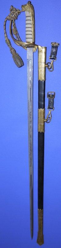 Gieves ERII British Royal Naval Officer's Sword, Sold