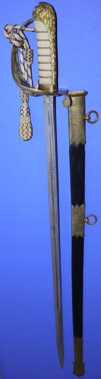 George V British RNR Officer's Sword